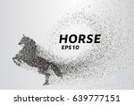 horse of the particles. the...   Shutterstock .eps vector #639777151