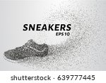 sneakers of the particles.... | Shutterstock .eps vector #639777445
