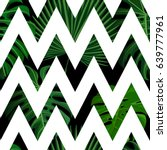 seamless pattern with green... | Shutterstock .eps vector #639777961