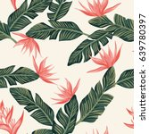 beach cheerful seamless pattern ... | Shutterstock .eps vector #639780397