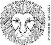 vector coloring book for adult. ... | Shutterstock .eps vector #639782371