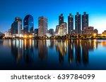 a beautiful benchakitti park... | Shutterstock . vector #639784099
