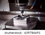 metalworking cnc milling... | Shutterstock . vector #639786691