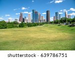 downtown houston at daytime... | Shutterstock . vector #639786751