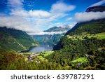 geiranger fjord  beautiful... | Shutterstock . vector #639787291