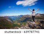 geiranger fjord  beautiful... | Shutterstock . vector #639787741