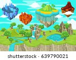 isometric game nature landscape ... | Shutterstock .eps vector #639790021