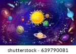 cartoon solar system scientific ... | Shutterstock .eps vector #639790081