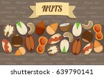 flat nuts elements collection... | Shutterstock .eps vector #639790141