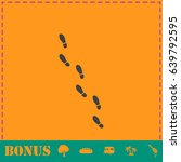 bootprints icon flat. simple... | Shutterstock . vector #639792595