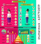 fitness and diet infographic... | Shutterstock .eps vector #639792859