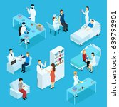people and healthcare isometric ... | Shutterstock .eps vector #639792901