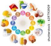 mineral vitamin supplement... | Shutterstock .eps vector #639793909