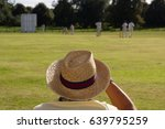 spectator wearing sun hat at... | Shutterstock . vector #639795259