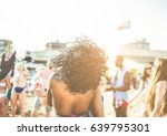 young people dancing on beach...   Shutterstock . vector #639795301