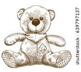 vector antique engraving... | Shutterstock .eps vector #639797137