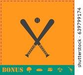 baseball icon flat. simple...