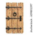 Old Medieval Wooden Door 3d...