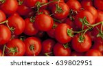 ripe tasty red tomatoes.  | Shutterstock . vector #639802951
