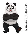 panda standing on two feet... | Shutterstock .eps vector #639806845
