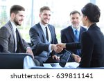 business people shaking hands ... | Shutterstock . vector #639811141