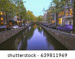 tranquil evening by the canal... | Shutterstock . vector #639811969