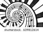 piano keyboard printed music... | Shutterstock . vector #639812614