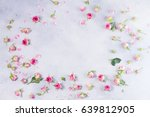 pink and white rose flowers and ... | Shutterstock . vector #639812905