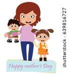 mother's day card vector | Shutterstock .eps vector #639816727