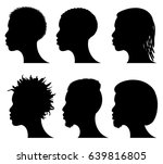 afro american young men face... | Shutterstock .eps vector #639816805