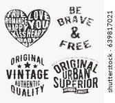 t shirt print design. set of... | Shutterstock .eps vector #639817021