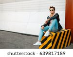 stylish handsome young man in a ... | Shutterstock . vector #639817189
