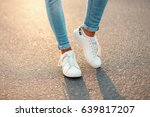man in white sneakers on... | Shutterstock . vector #639817207