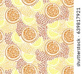 abstract citrus pattern.... | Shutterstock .eps vector #639817921
