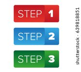step one two three button | Shutterstock .eps vector #639818851