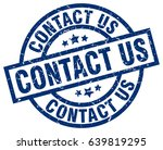 contact us blue round grunge... | Shutterstock .eps vector #639819295