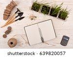gardening tools  blank daily... | Shutterstock . vector #639820057