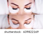eyelash extension procedure....   Shutterstock . vector #639822169