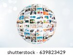 television broadcast multimedia ... | Shutterstock . vector #639823429