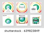 abstract vector layout... | Shutterstock .eps vector #639823849