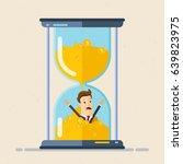 businessman drowning inside...   Shutterstock .eps vector #639823975
