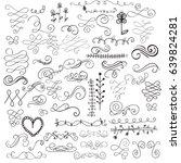 calligraphic decorative swirls...   Shutterstock .eps vector #639824281