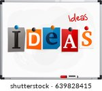 the word ideas made from... | Shutterstock .eps vector #639828415