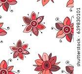 seamless vector hand drawn... | Shutterstock .eps vector #639830101