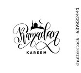 ramadan kareem greeting card...   Shutterstock .eps vector #639832441