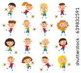 vector illustration of girls... | Shutterstock .eps vector #639832591