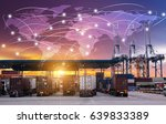 business logistics concept ... | Shutterstock . vector #639833389