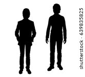 vector silhouette of two... | Shutterstock .eps vector #639835825