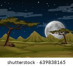 scene with mountains at night... | Shutterstock .eps vector #639838165