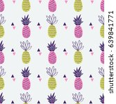 vector seamless pattern with... | Shutterstock .eps vector #639841771